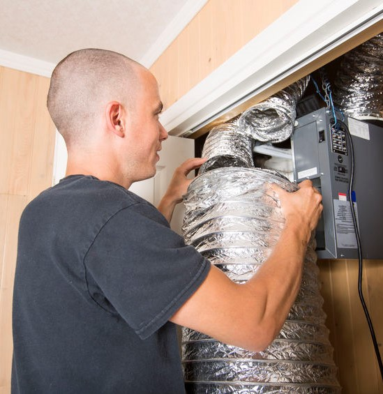 correcting ductwork for forced hot air heating system