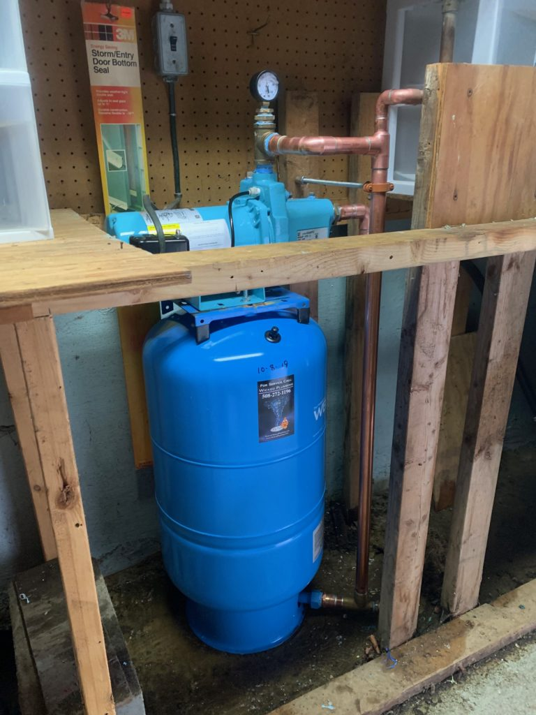 completed well pump installation